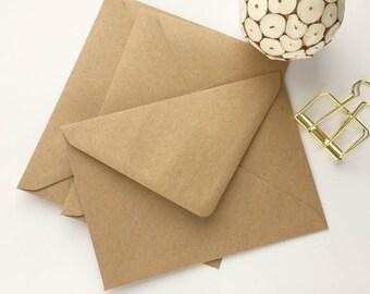"100 5x7 Kraft Envelopes A7 Envelopes Envelopes Bulk Rustic envelopes US A7 for wedding invitations card supplies 5.1/4x7.1/4"" 133x184mm"