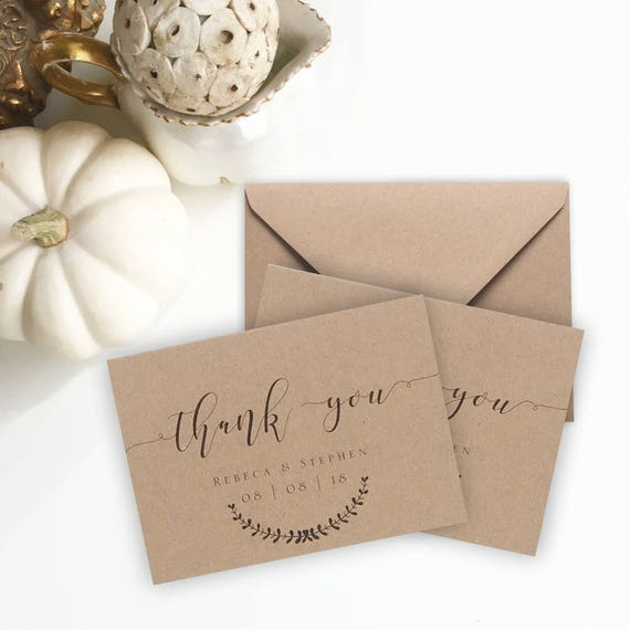 thank you note sizes