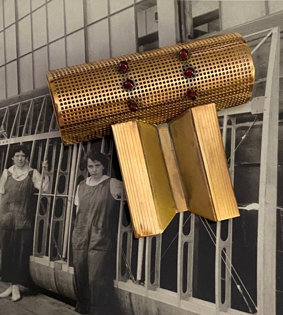 Mid Century Modern Machine Age Brooch
