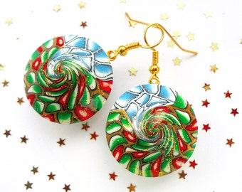 7621b5e5e Christmas earrings, Christmas gift, Christmas jewelry, Original Christmas  gift, New Year jewelry, New Year gift, 2019 gifts, Christmas