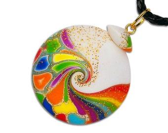 Rainbow pendant Multi-color necklace Colorful pendant Multi color necklace Colorful necklace Multi-color pendant lgbt Multi color pendant