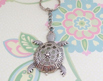 Silver Turtle/Tortoise/Sea Turtle Keychain - Ready to Ship
