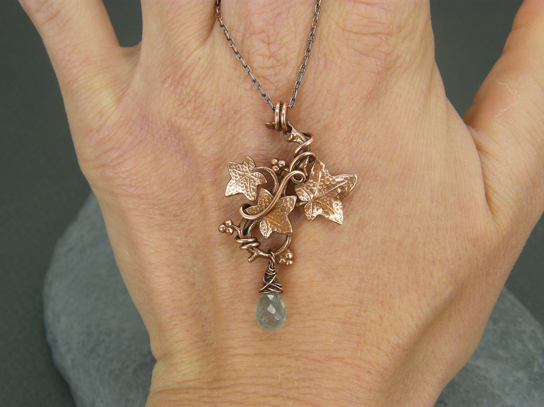 March Birthstone Gift for Her Aquamarine Pendant Moss Aquamarine Necklace Aquamarine Jewelry March Birthday Self Gift