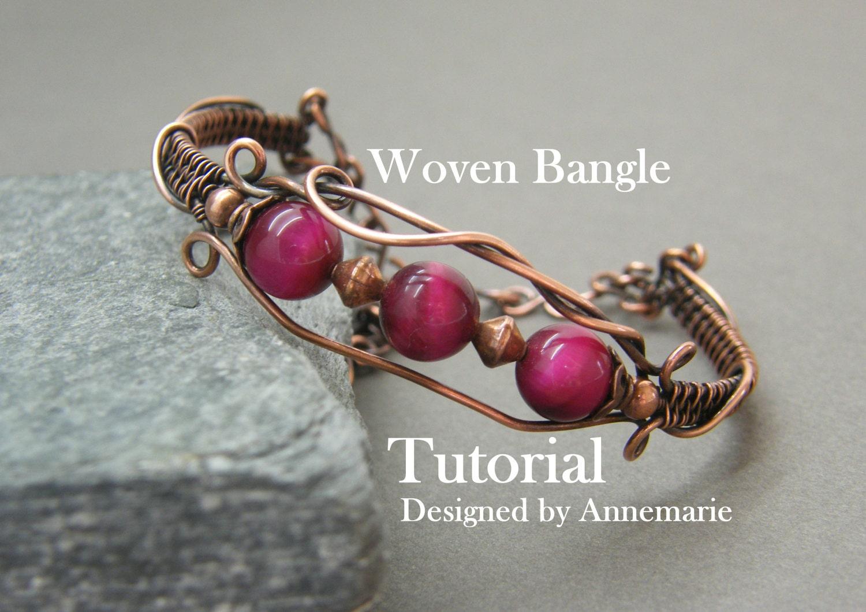 Wire wrap tutorial ~ Handmade jewelry ~ Instructions ~ Pdf ~ Wire ...