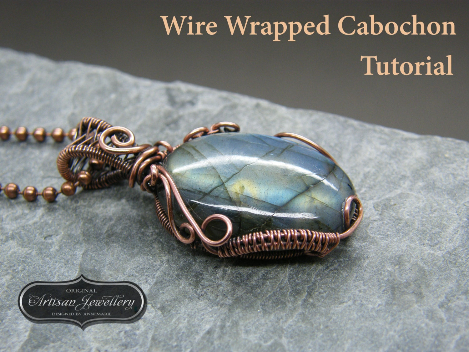 Wire wrapped pendant tutorial Cabochon setting Jewelry kit | Etsy