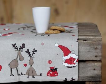 Christmas overlays, Christmas table, linen Table runner, gift tablecloths, Christmas place mats, Rudolph table runner, Christmas ornaments