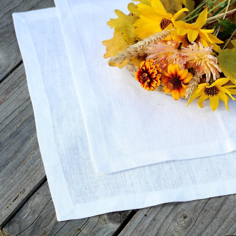 Weiß Leinen Servietten Weißen Tischdecken Servietten Etsy