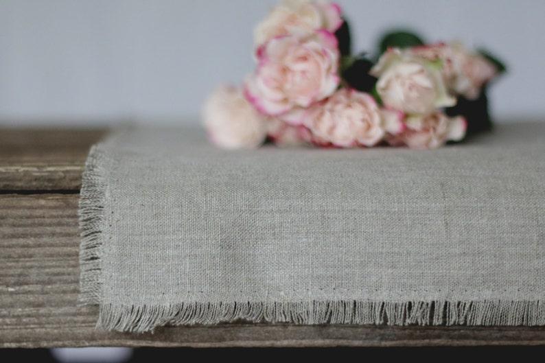 gray linen tablecloths white linen table cloth table cloth linens wedding table cloth washed table cloth TABLE Runner soft linen