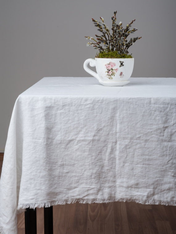Tablecloths Made Of Stone Washed Linen For Eco Friendly Table Etsy
