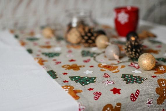 Christmas Table Runners.Xmas Linen Table Runner For Christmas Table Decoration Or Christmas Gift Christmas Linen Table Cloth Rustic Linen Christmas Table Runners