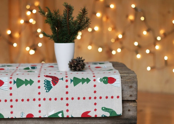 Christmas Tablecloths.Christmas Tablecloth Linen Tablecloths Christmas Linen Table Runner Christmas Linens Decor Christmas Ornament Linen Table Cloth Gift