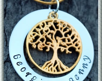 Express post Gold Plated Family Tree Personalized Necklace