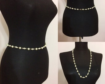 Pearl belly chain , waist chain ,pearl belt ,  pearl necklace