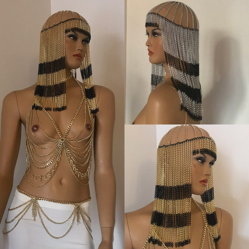 head dress hairpiece,hair jewelry,festival jewelry,Grecian Goddess Head Jewelry,Festival Headchain, Burning Man Facechain
