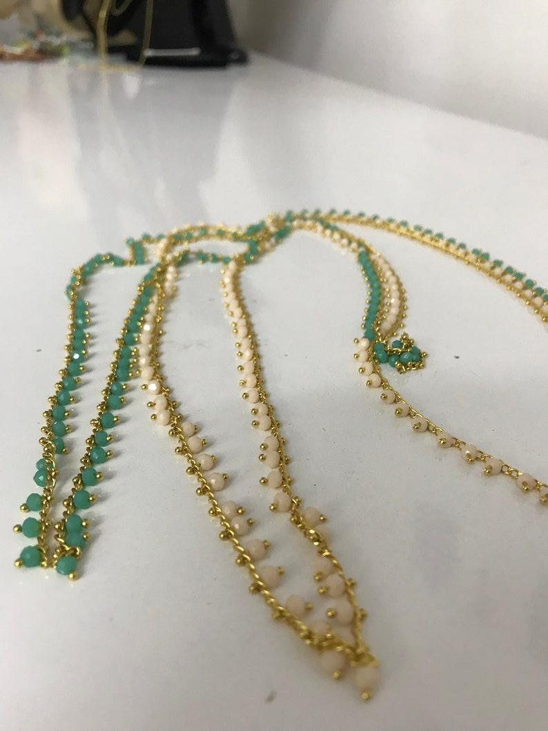 Gold belly Chain Bikini Jewelry Body chain Waist Chain Swimsuit Jewelry belly Chain Beads Turquoise  crystal waist beads