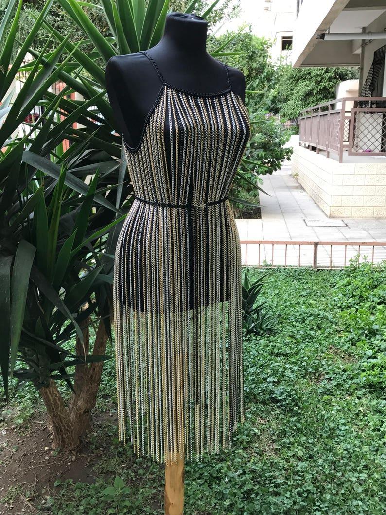 Kleid silber gold