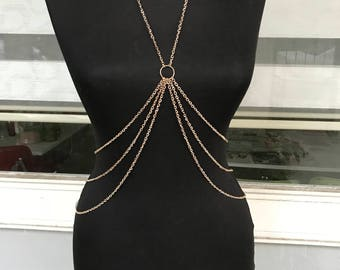 Rose Gold Body Chain,Body Jewelry