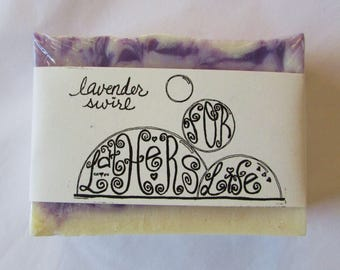 Artisan Handmade Soap -- Luxurious Lavender Swirl