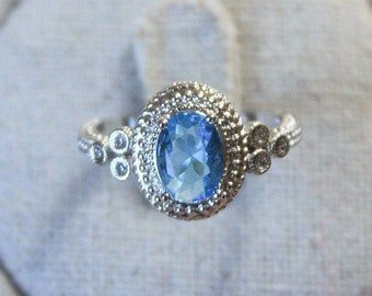 Silver Tennis Bracelets avec 6.55ctw vert Saphirs ou Bleu Topaz Gemstone