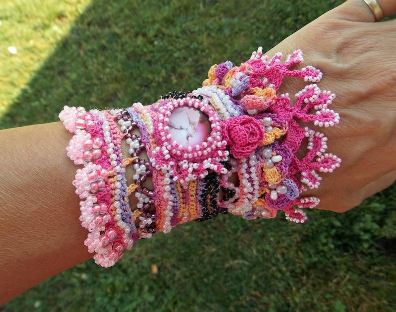 Beaded bracelets elegant bridal glove statement jewelry image 0