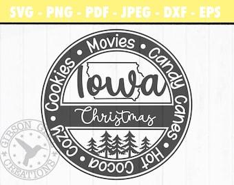 Iowa Christmas Svg | Iowa Svg | Christmas Svg | Iowa Cut File | Christmas Cut File | Iowa Clip Art | IA Svg | Iowa DXF | Iowa EPS | Png