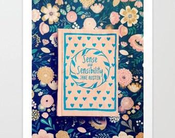 Sense and Sensibility Pink Book Fine Art Photograph: wall art, wall decor, literary