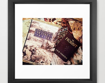 Tolkien Books Fine Art Photograph: Lord of the Rings, Hobbit, wall decor, library, books, office, study, girl's room, boy's room, fantasy