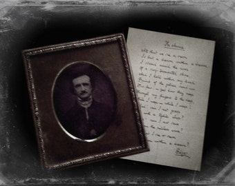 Edgar Allan Poe Photo: Gothic, Photograph, Wall Decor, Library, Librarian, Teacher, Literature, Poetry, Poem, Portrait, black and white