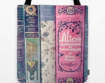 A Perfect Library Tote Bag - Books, Book bag, library bag, librarian, teacher, stories, pink, mint, aqua, cream