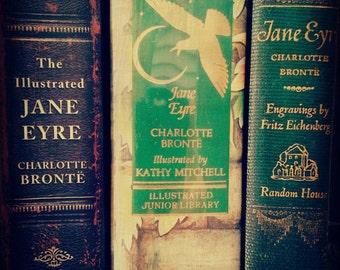 Jane Eyre Books - Wall Art, Fine Art Photograph, Wall Decor, Charlotte Bronte, Books, Library, Librarian, Teacher,