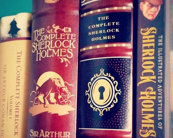 Sherlock Library Photograph: wall art, wall decor, books, librarian, library, mystery, detective, Sir Arthur Conan Doyle, brown
