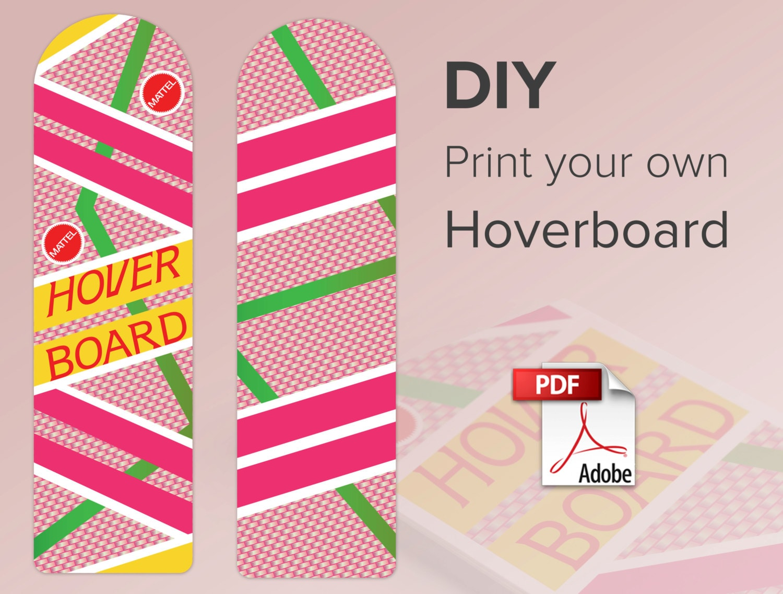 Hoverboard Print at home Digital Download 300 dpi | Etsy