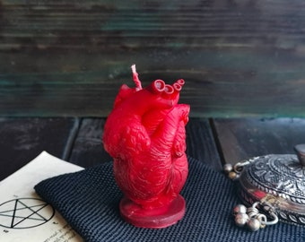 Bleeding heart - Witchcraft stuff - Witch gift - Anatomical heart- Creepy figurine - Altar totem - Doctor's gift - Spell work - Gothic style