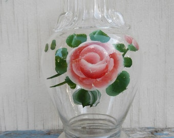 Shabby Chic Vintage Lamp Base with Rose Motif!
