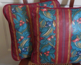 Pair of Custom Chintz Pillows!