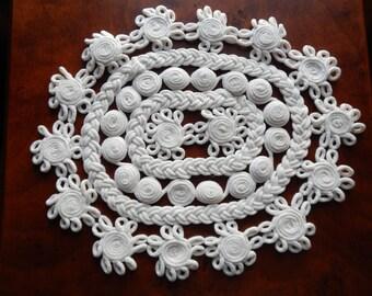 Unique Vintage Cotton Doily!