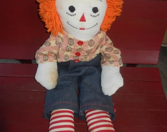 Large Vintage Raggedy Andy Doll!