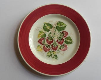 Adorable Strawberry Plate Made in Italy!