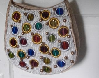 Beautiful Silk and Beaded Dressy Handbag!