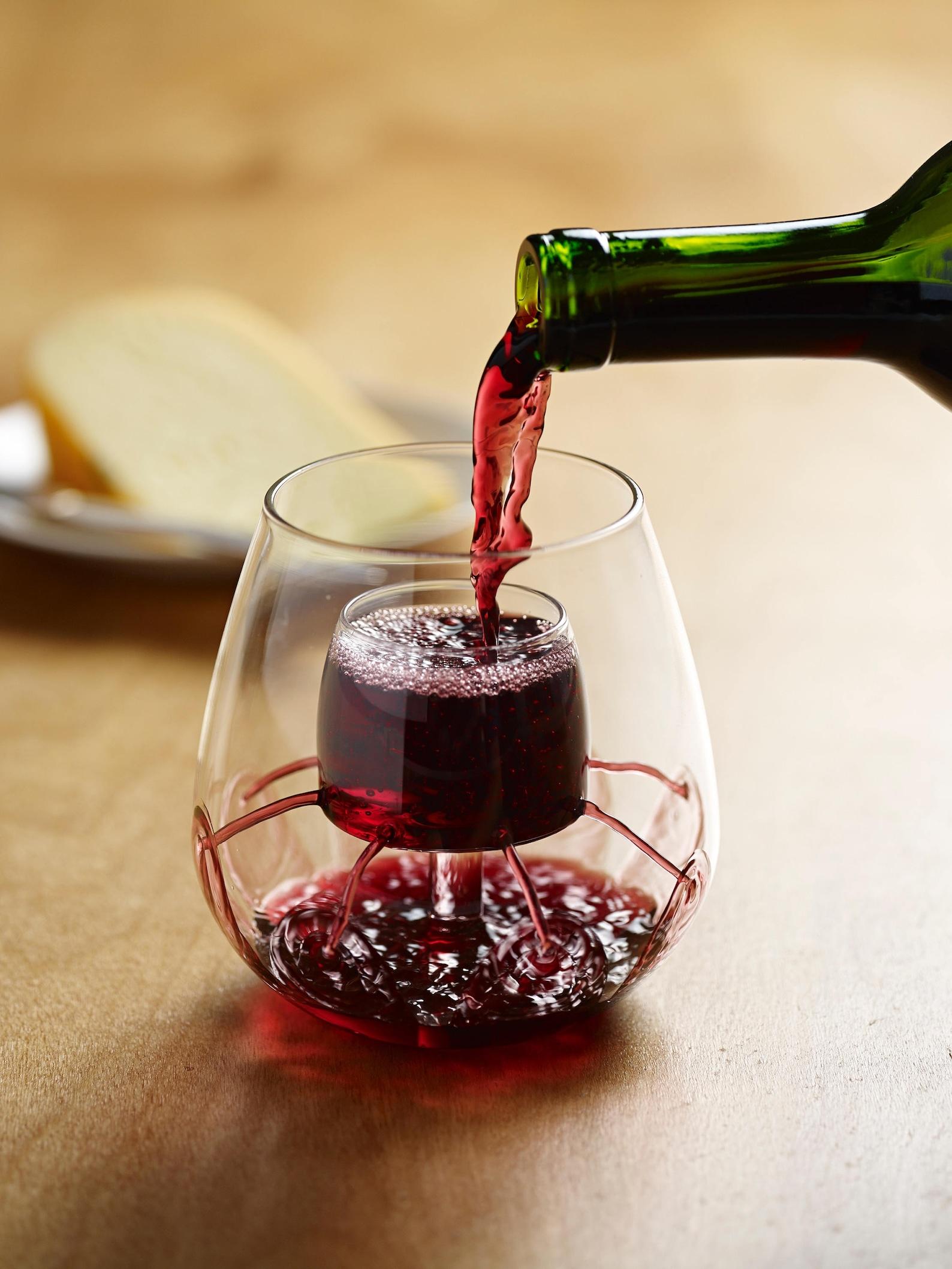 stemless aerating wine glass gift