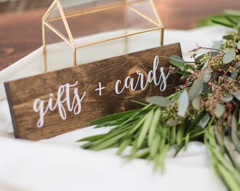 Gifts and Cards Sign | Wedding Gifts and Cards Sign | Wedding Table Decor Sign | Wedding Table Centerpiece Sign | Elizabeth collection