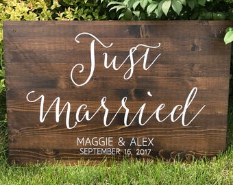 Just Married wedding sign - Sophia collection