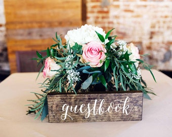 Guestbook Sign - Wedding Guestbook sign - wood guestbook - Wooden Wedding Signs - Elizabeth collection
