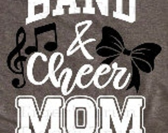 54718afb Spirit Wear, Game Day Shirt decal, Band Mom, Cheer Mom, Band & Cheer Mom heat  transfer vinyl decal