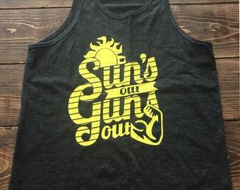 best service 55efc ae2fb Sun s Out Guns Out, Kids Summer Shirt, Beach Shirt, Boys Shirt, Kids Summer tank  top