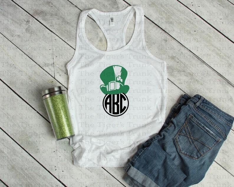 72af75224 St. Patrick's Day Shirt Leprechaun Monogram Lucky Shirt | Etsy