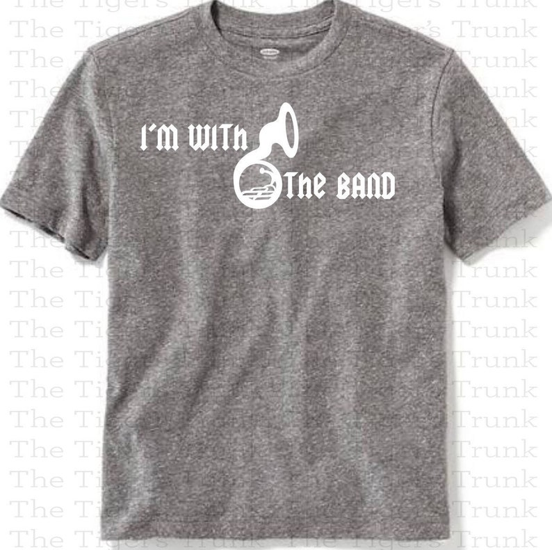 2d15f49b Marching Band Shirt I'm With the Band Band T-shirts | Etsy