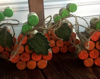 Wine Cork Pumpkins | Fall Decor | Halloween Decor | Thanksgiving Decor