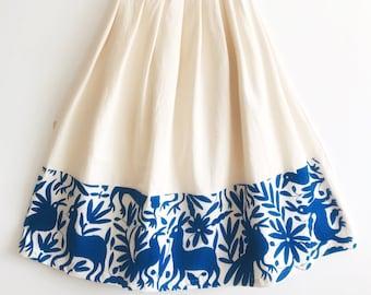 "Maxi Otomi skirt hand embroidered multicolor   ""Talavera"" Floor length skirt"