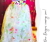 Multicolor embroidery Dress quot PRIMAVERA quot Otomi Wedding dress Custom made embroidered bridal wear Hand embroidery Otomi MadeToOrder